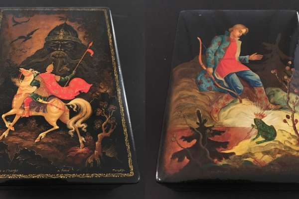 """""""Fairy Tales in Lacquer"""" Exhibition of Antique Russian Lacquer Boxes + Vodka Tasting"""