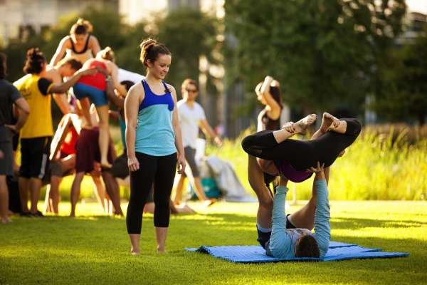 Fitness in the Park: Circus Arts at Discovery Green