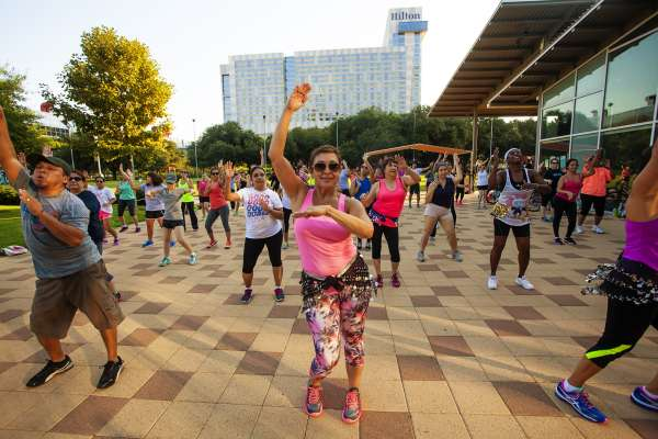 Fitness in the Park: Zumba at Discovery Green