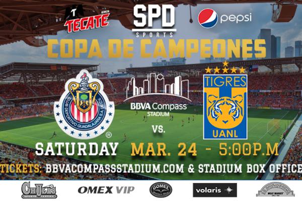 Copa de Campeones presenta a Tigres y Chivas de Guadalajara