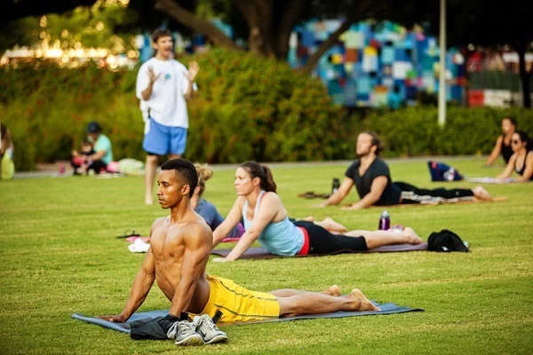 Fitness in the Park: Hatha Yoga at Discovery Green