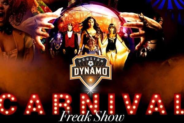 Carnival Freak Show Halloween Gala el BBVA Compass Stadium