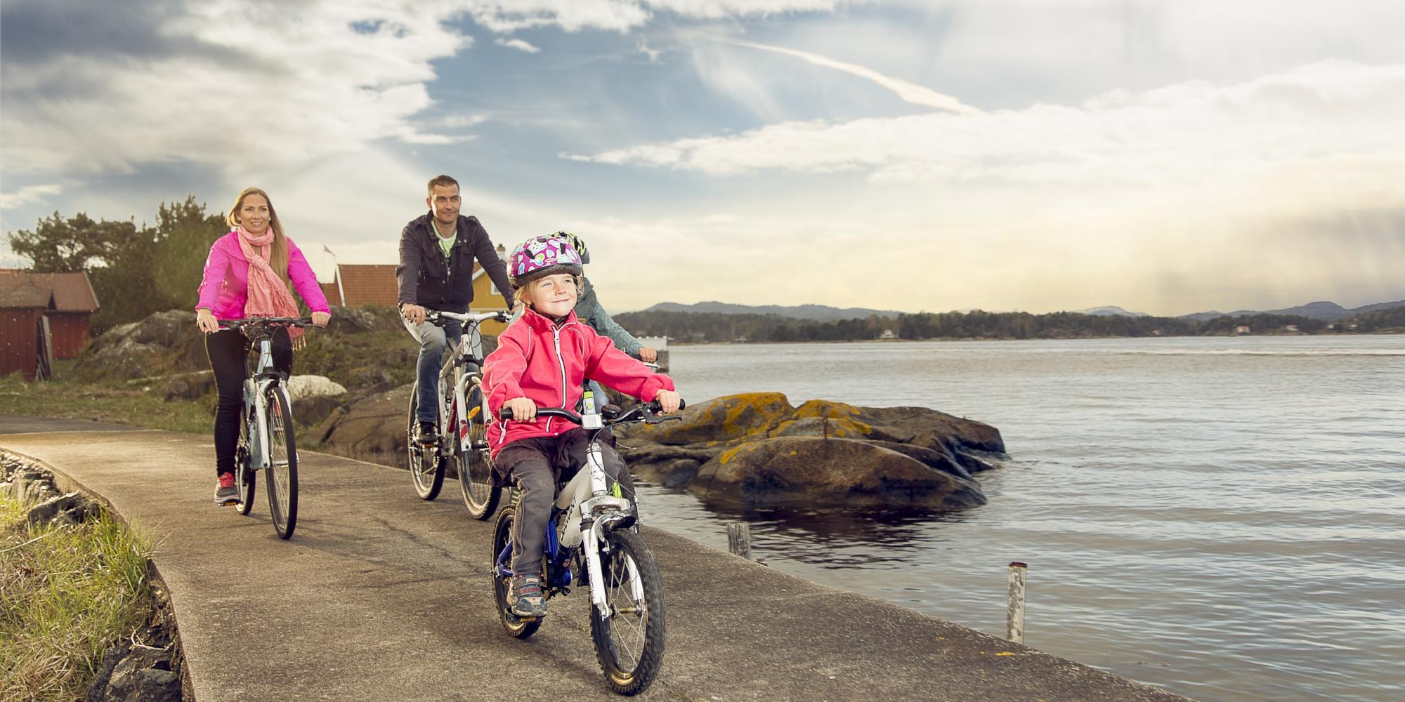 Cycling in coastal Langesund