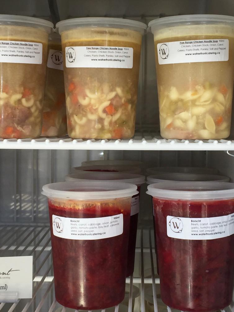 Frozen Soups: Waterfront Cafe