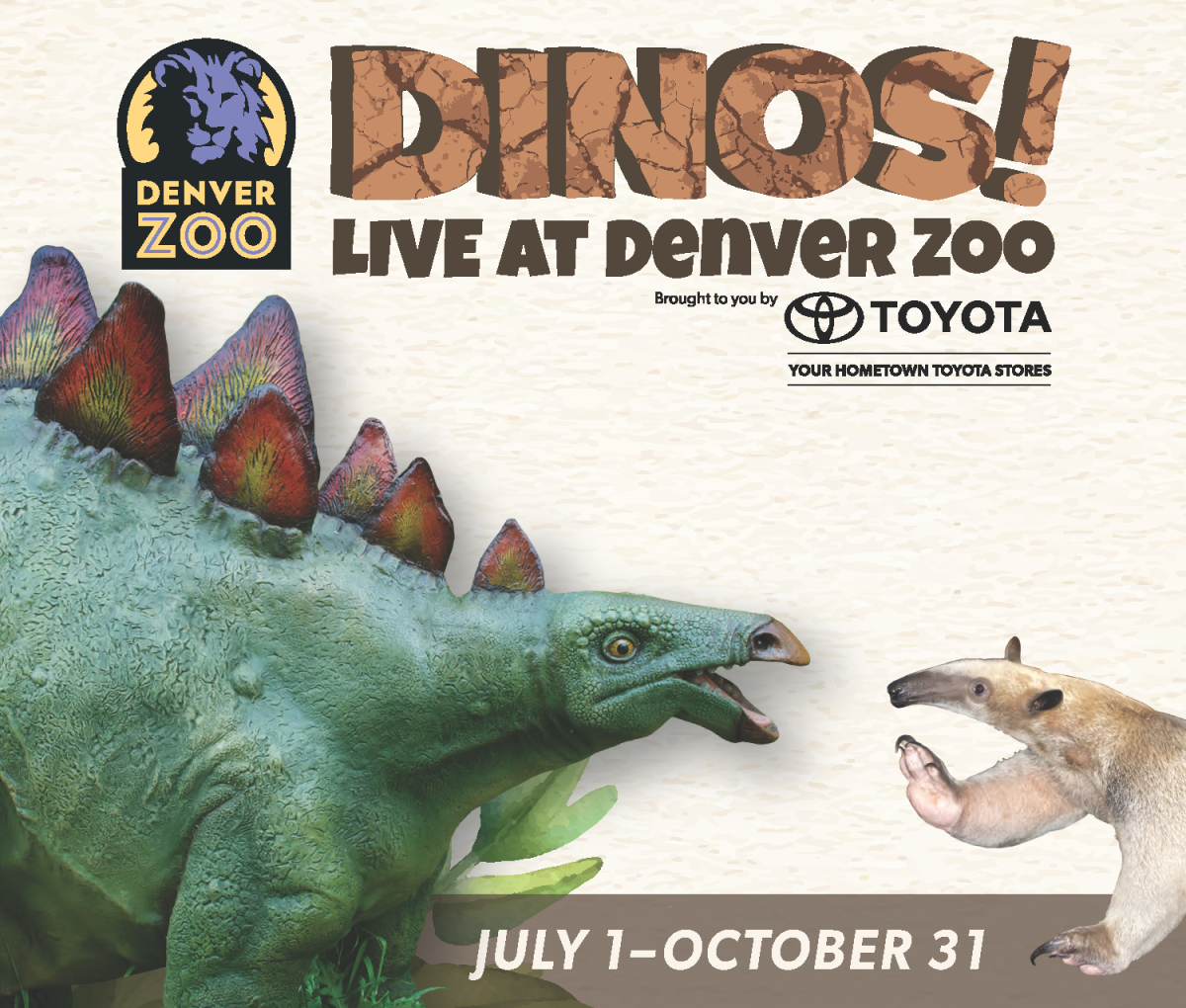 Dinos! Live at Denver Zoo Ad
