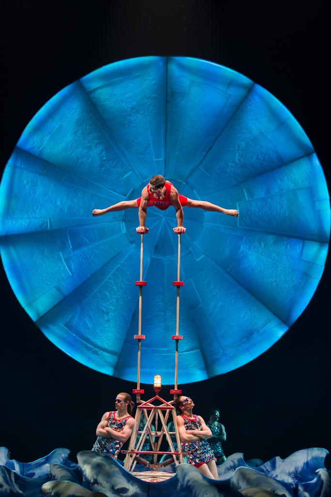 Acrobats in Cirque du Soleil's Luzia