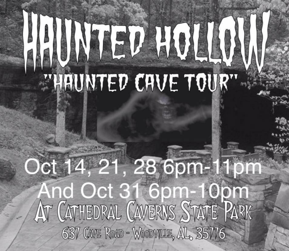 Haunted Cave Tours at Cathedral Caverns State Park