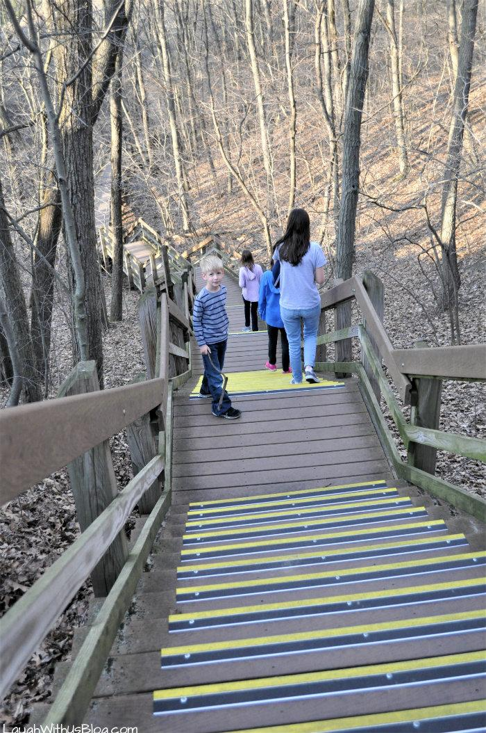 Indiana Dunes trails stairs