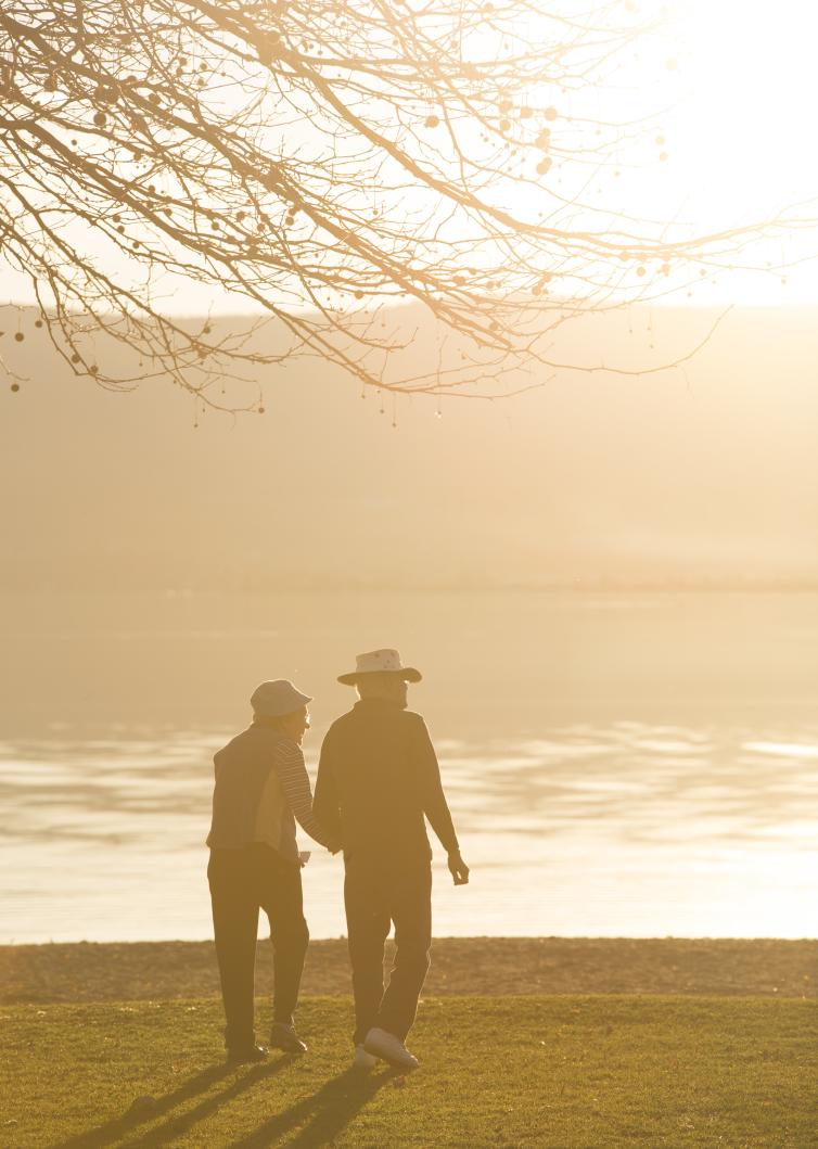 Old Couple Sarson's Beach Sunset