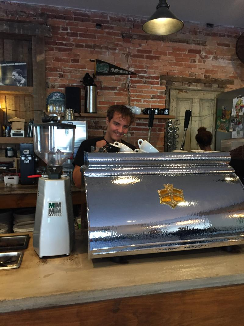 Lil Amps Coffee Roaster Interior by Mackenzie Carpenter - Oct. 2015