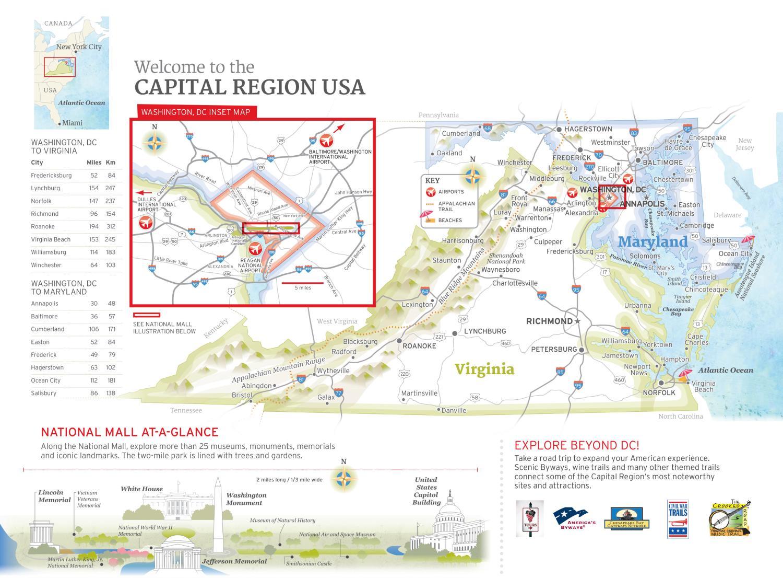 Capital Region USA Map