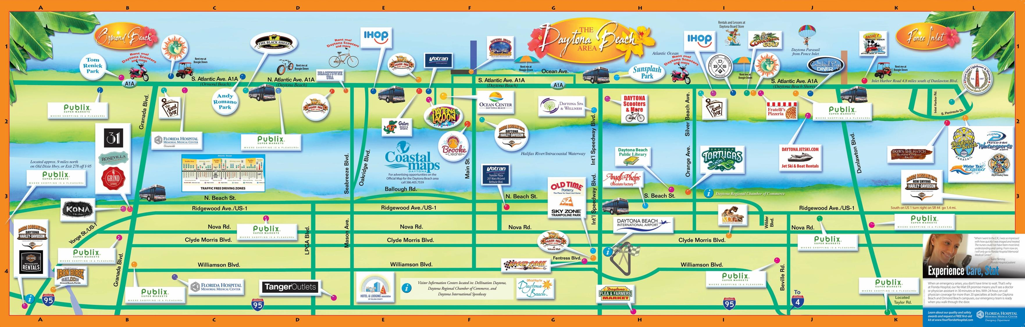 Atlantic Coast Florida Road Trip ROAD TRIP USA Maps City Of - Florida map beach