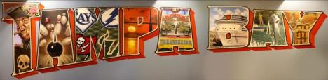 New Mural at Splitsville Lanes Tampa Bay