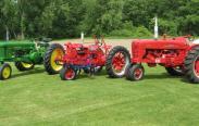 Howard Hemminger's three antique tractors; credit: Howard Hemminger, Bellona, NY.