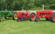 Howard Hemminger's three antique tractors; credit: Howard Hemminger, Bellona, NY.