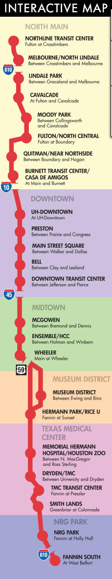 Houstons Metro Rail System Houston Transportation - Metro rail houston map