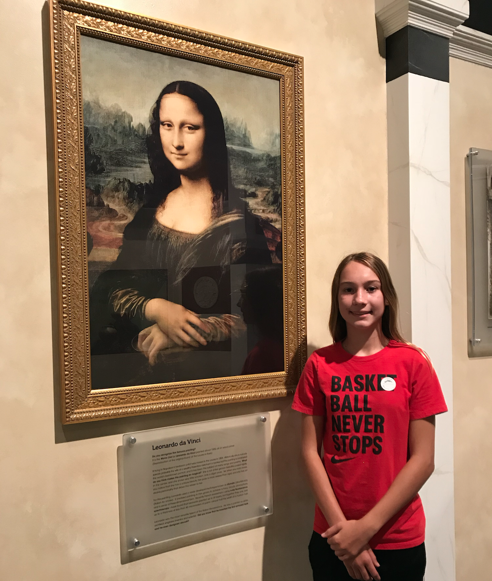 carley's adventure huntsville museum of art mona lisa