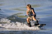 Wake boarding kid