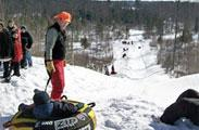 Downhill winter snow tubing in the Northwoods of Wisconsin