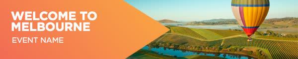Headerboard Banner Orange - Welcome to Melbourne
