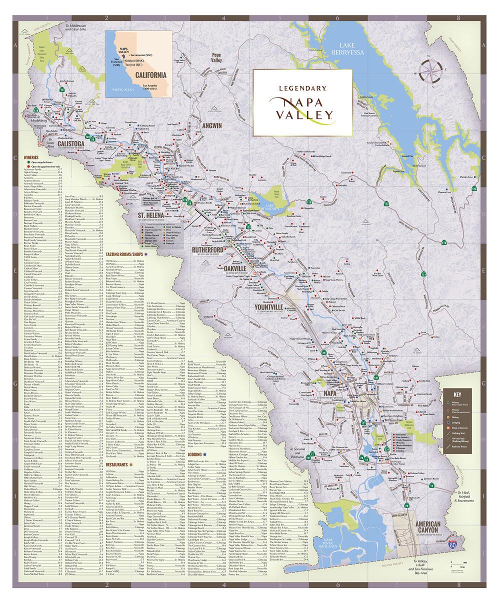Napa Valley Regional Map 2016