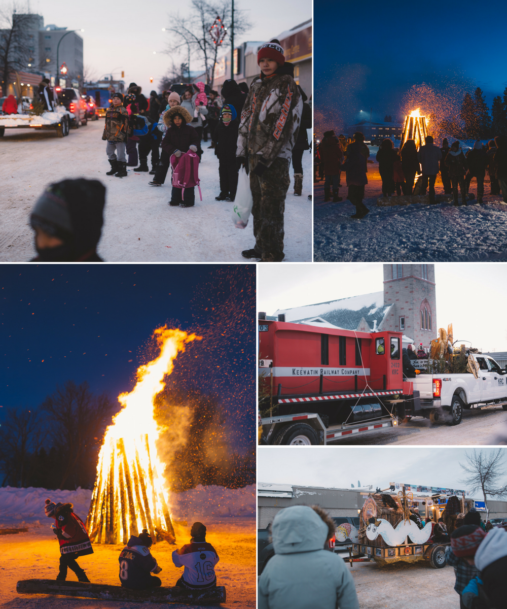 The Pas_parade and bonfire