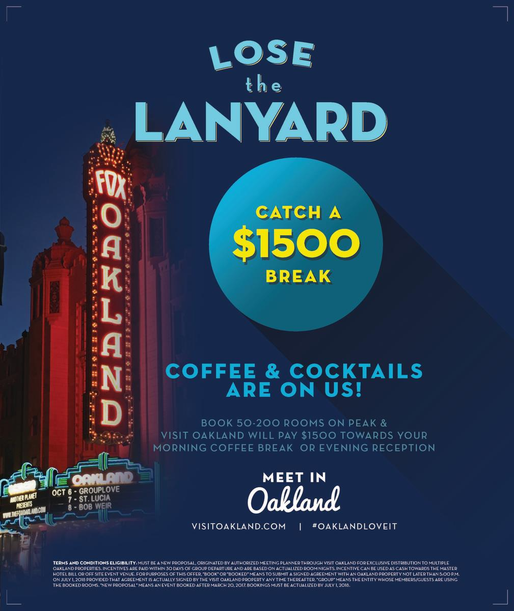 Visit Oakland Meeting Incentive