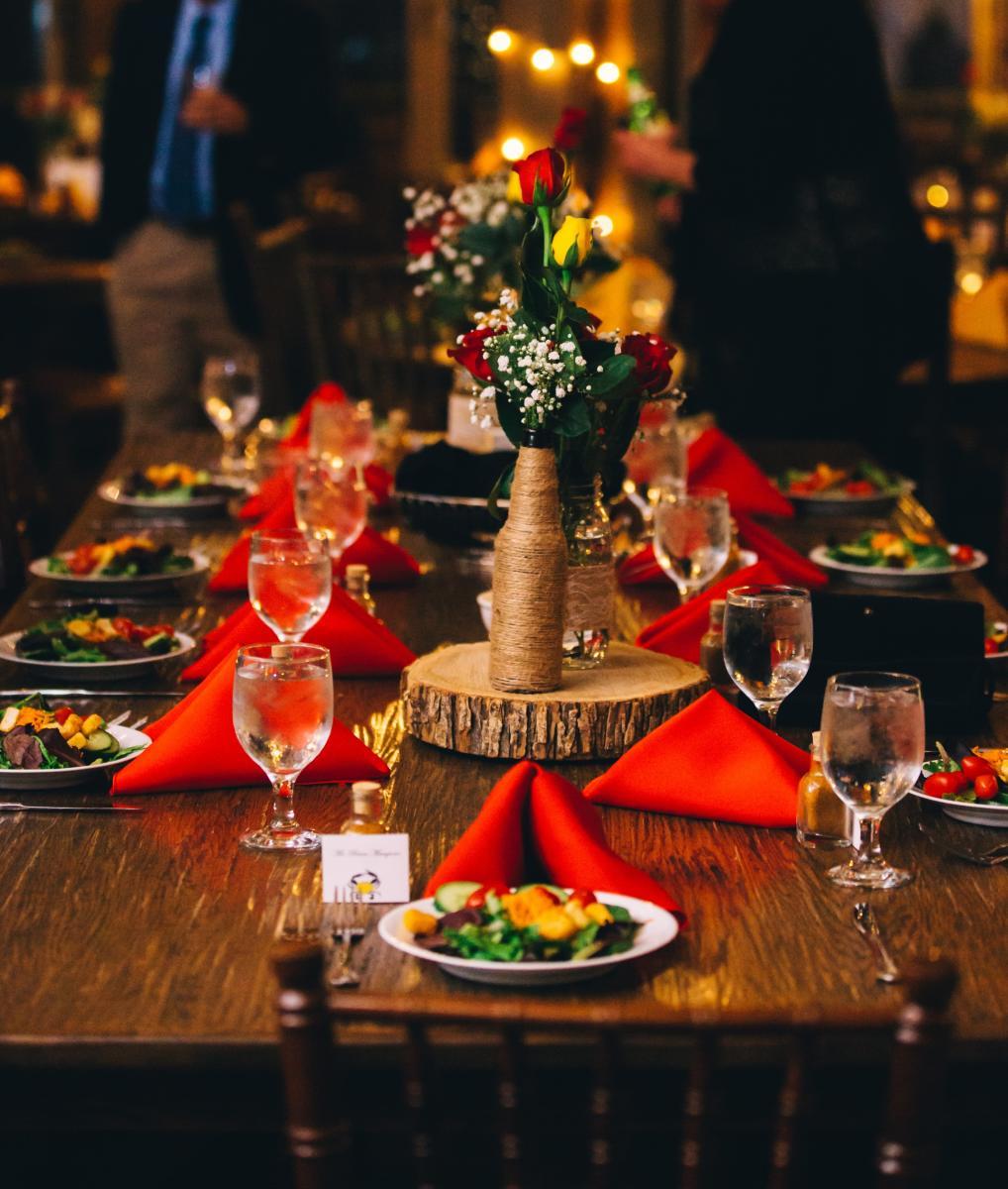 Wedding Table Setting at Thorpewood