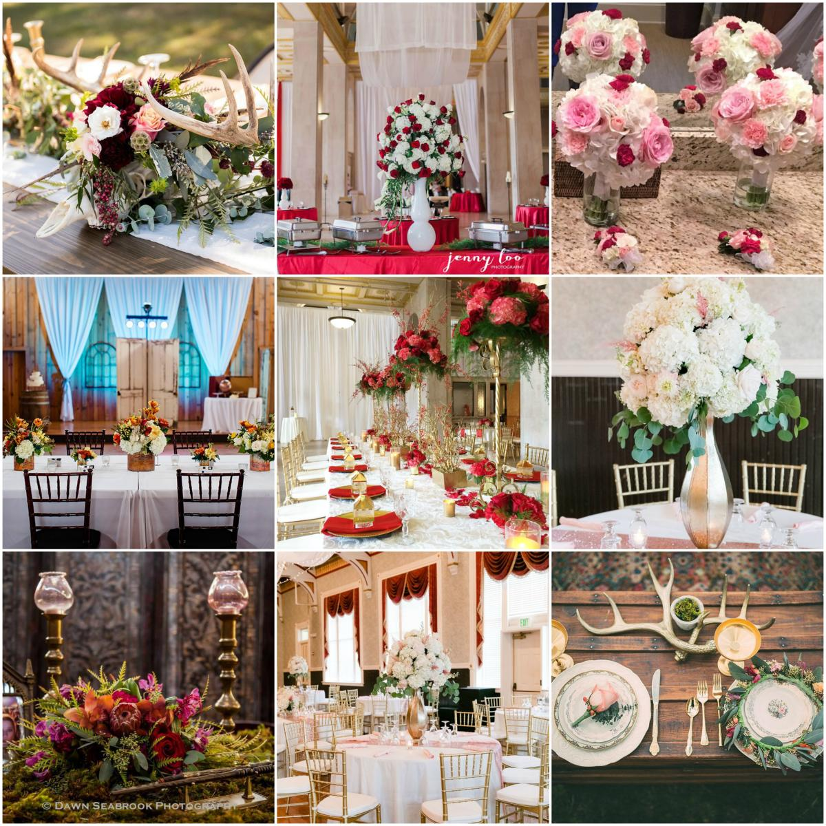 Southern Florals and Drapes collage
