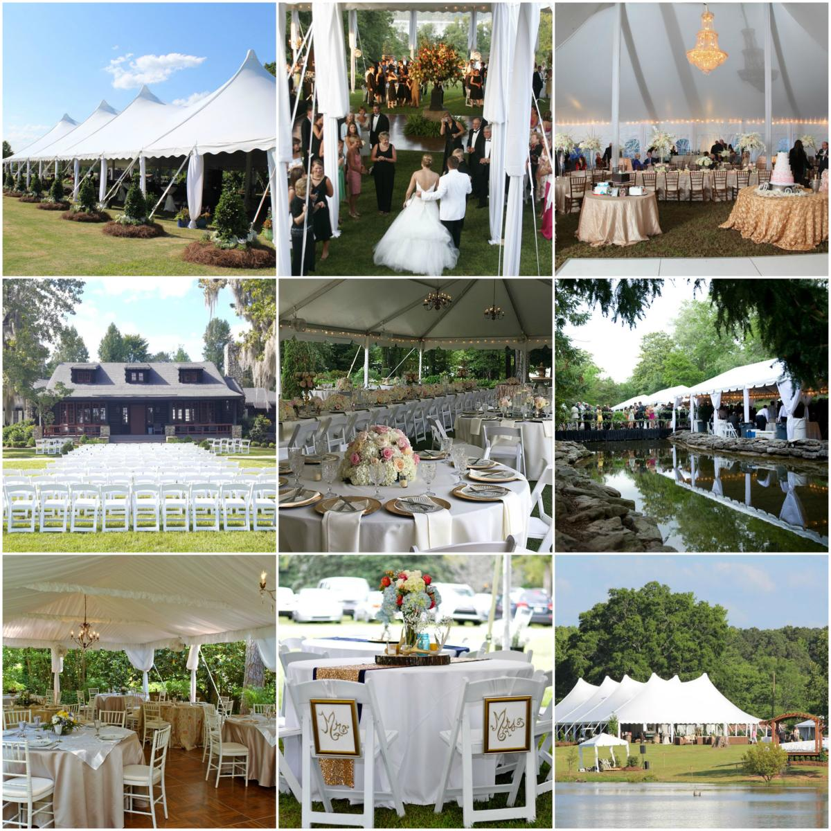 Macon tent rentals collage