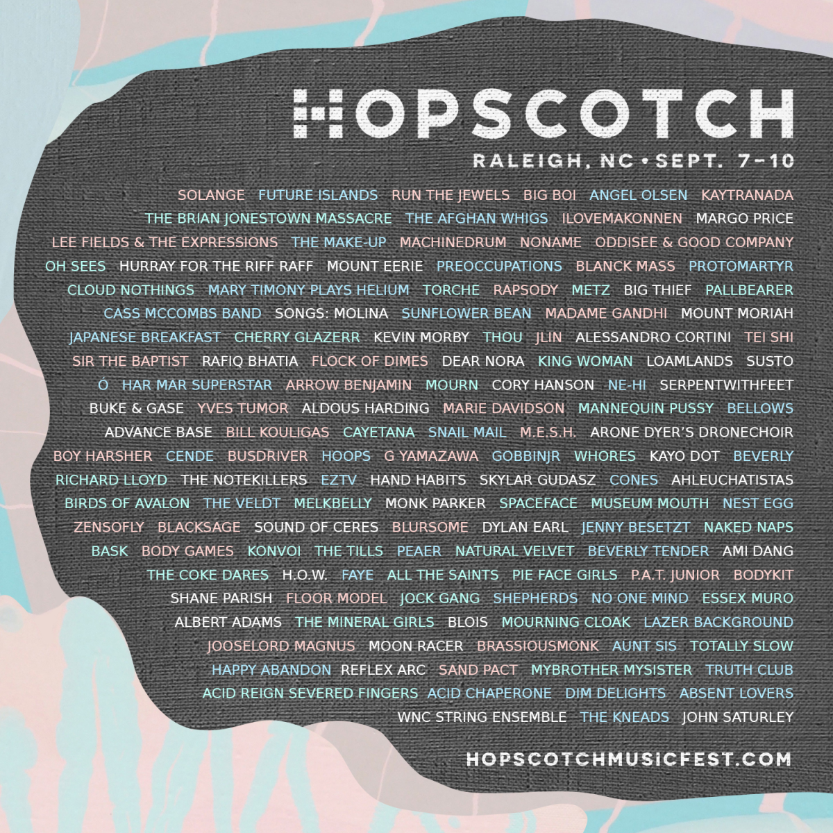 Hopscotch Music Fest lineup flyer