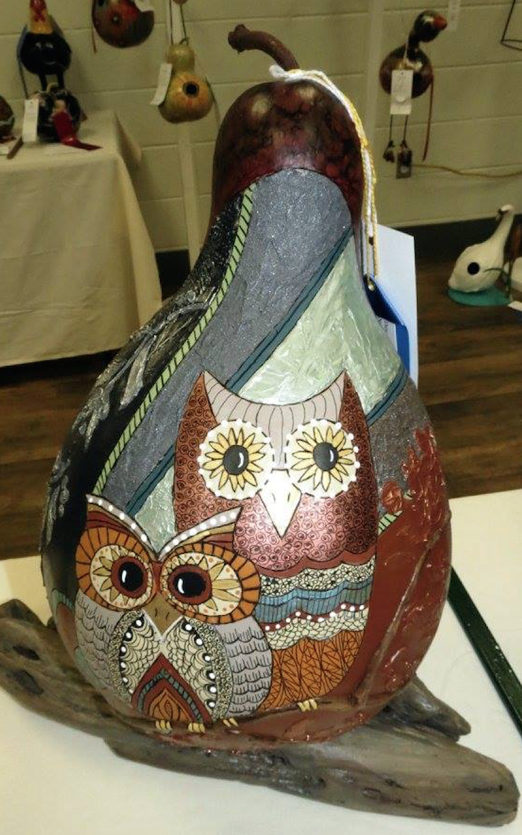 Gourd and wood art from Organic Vessels in Hamilton