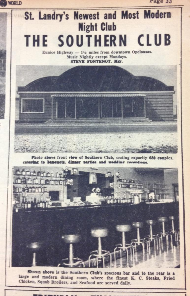 Southern Club Advertisement