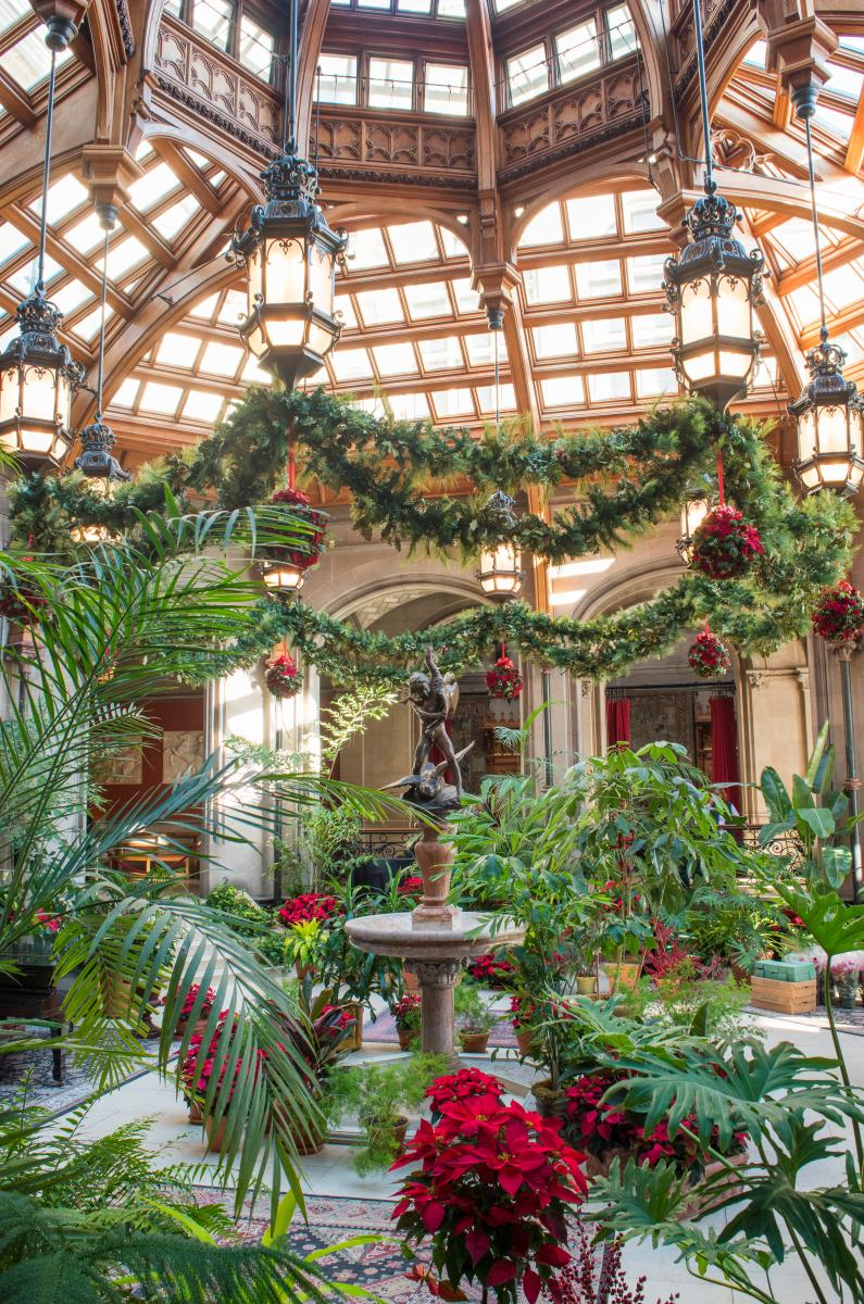 Christmas at Biltmore Estate Indoor Winter Garden 2017