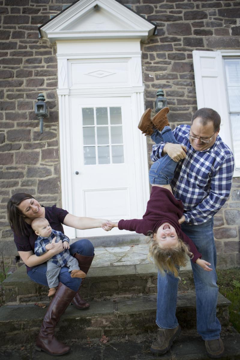 Family photo at Patterson Farm