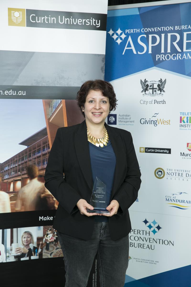 Curtin University Aspire Award Winner 2017
