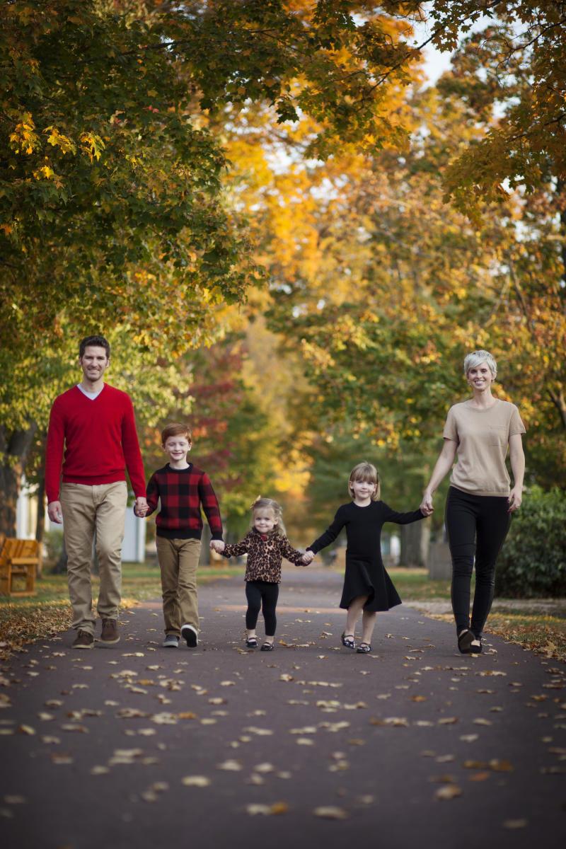 Fall family at Tyler Park