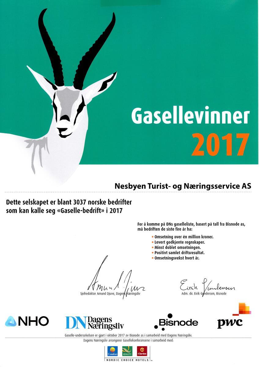 Gasellebedrift 2017
