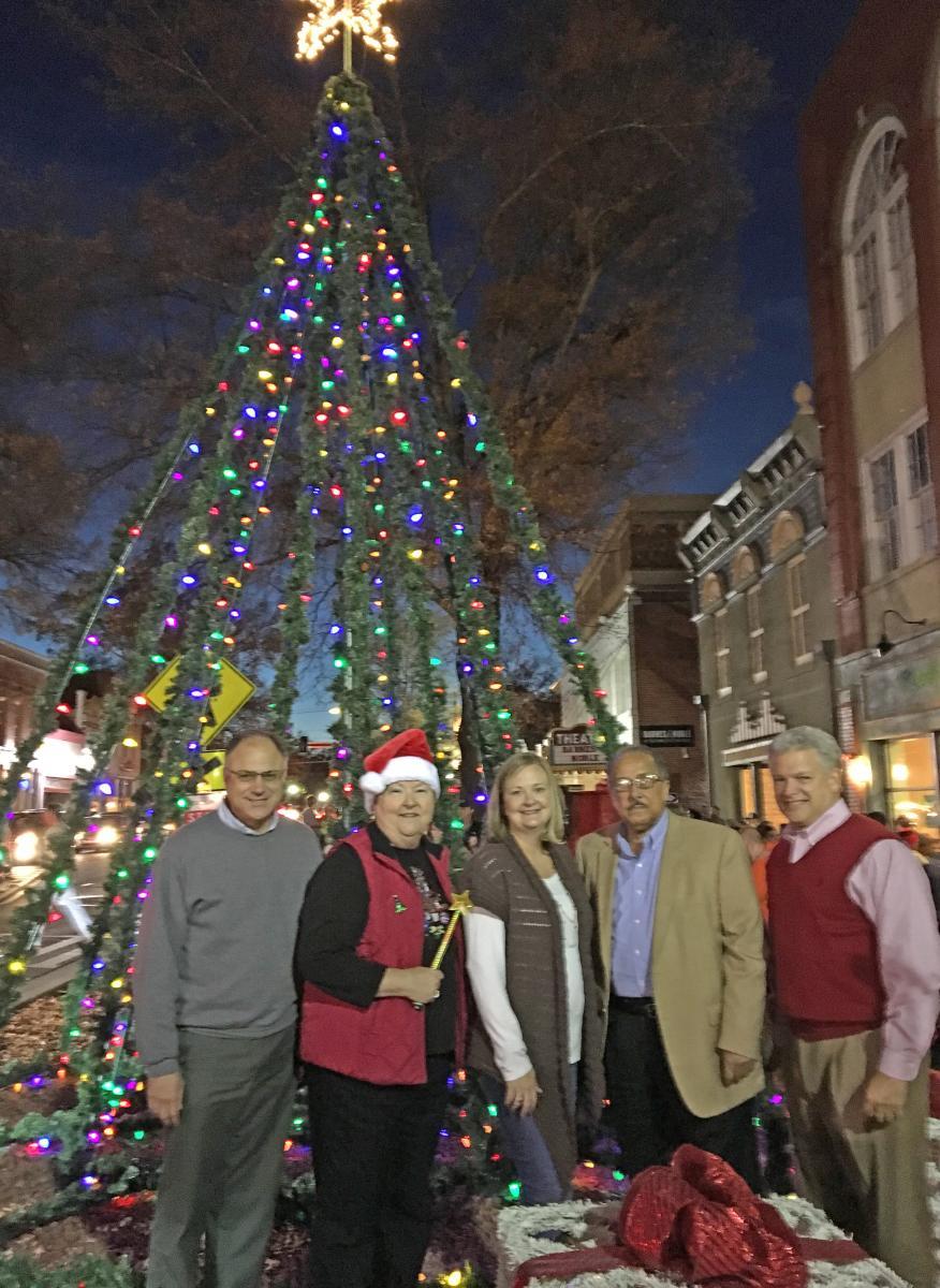 Christmas Tree Lighting downtown