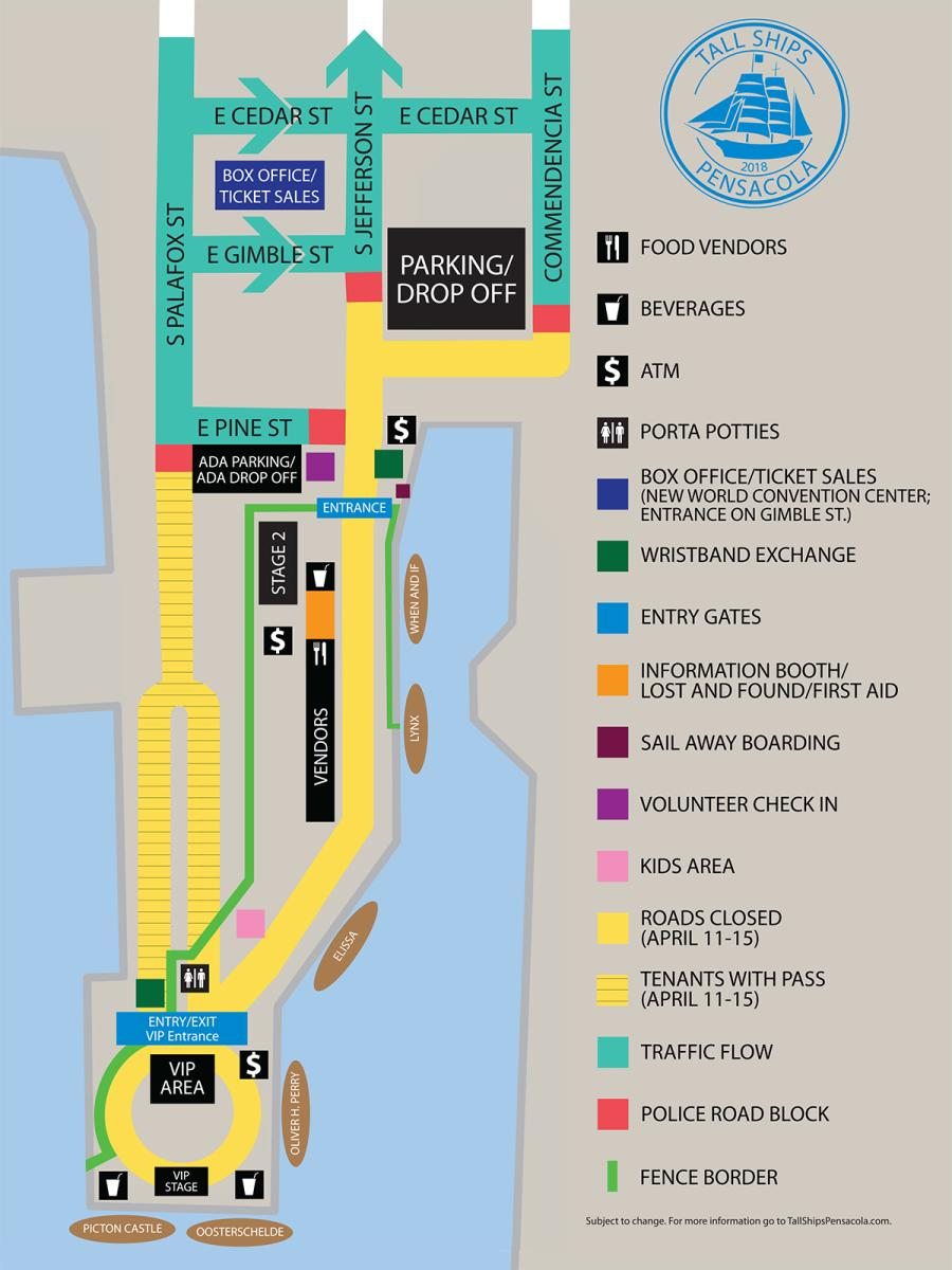 Tall Ships Site Map