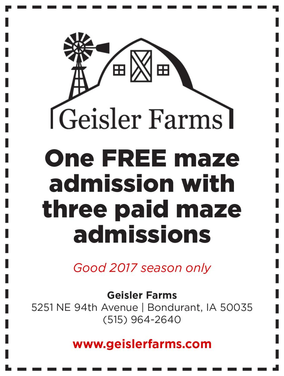 Giesler Farms Coupon 2017 Catch Des Moines