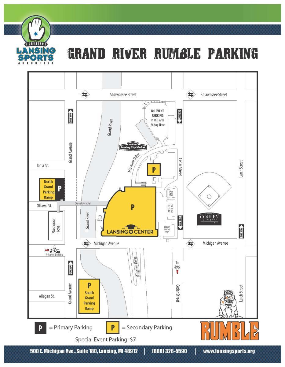 Rumble 2017 Parking Map