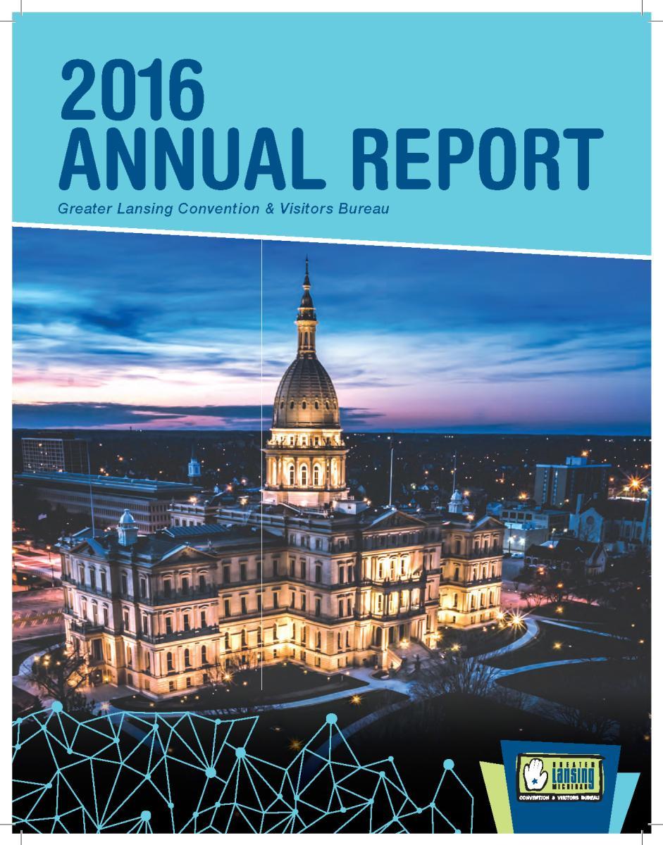 2016 GLCVB Annual Report Cover