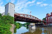 The lift bridge at Fairport (photo: LA Times)