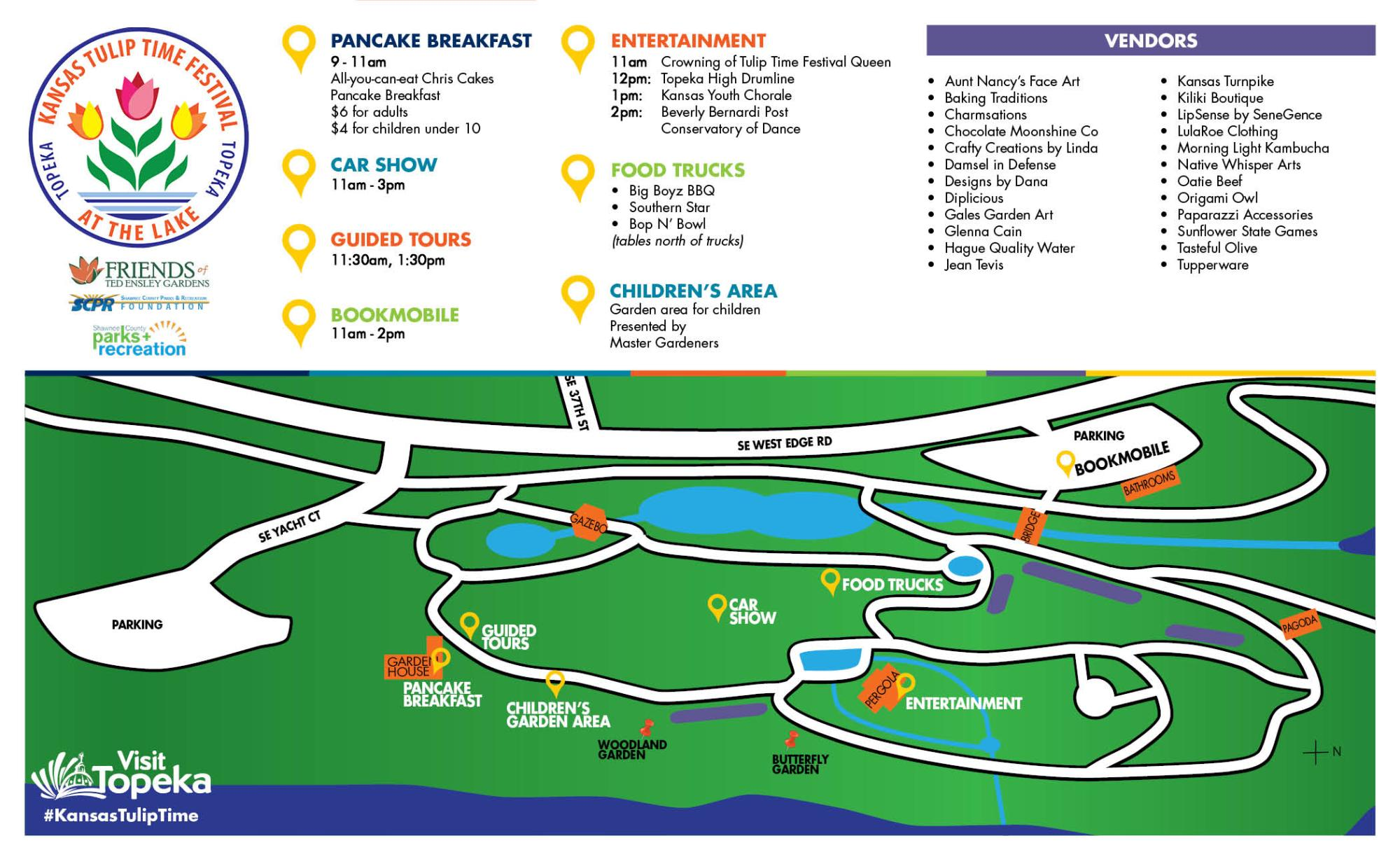 Tulip Time 2017 map and legend