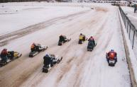 Vintage Racing Sleds will compete on an oval track Saturday, Feb. 13, on Lake Neahtahwanta in Fulton. (Photo provided by Great Eastern
