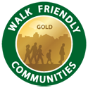 Walk Friendly Communities Badge - Gold level