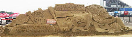 VisitMyrtleBeach.com 300 Kentucky Speedway sandcastle