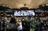 Football Fanatics Cheer on the Seahawks Against the 49ers