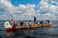 Meet the 10 intrepid Canadian and American canoeists who are paddling over 1,000 miles from Ottawa, Ontario, to Washington, DC, in a 36-foot voyageur canoe.